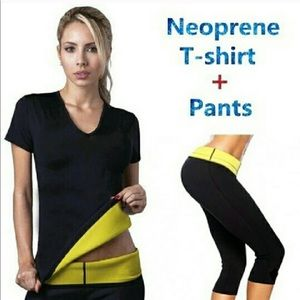 Pants - Neoprene shapers workout suit NWOT